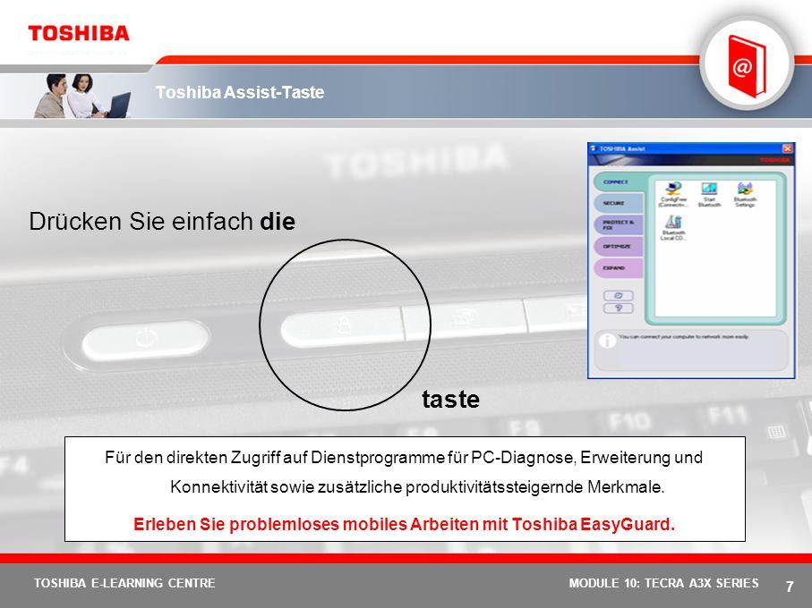 Erleben Sie problemloses mobiles Arbeiten mit Toshiba EasyGuard.