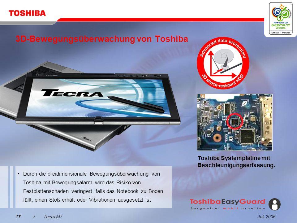 3D-Bewegungsüberwachung von Toshiba