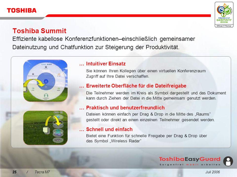 Toshiba Summit Effiziente kabellose Konferenzfunktionen–einschließlich gemeinsamer Dateinutzung und Chatfunktion zur Steigerung der Produktivität.