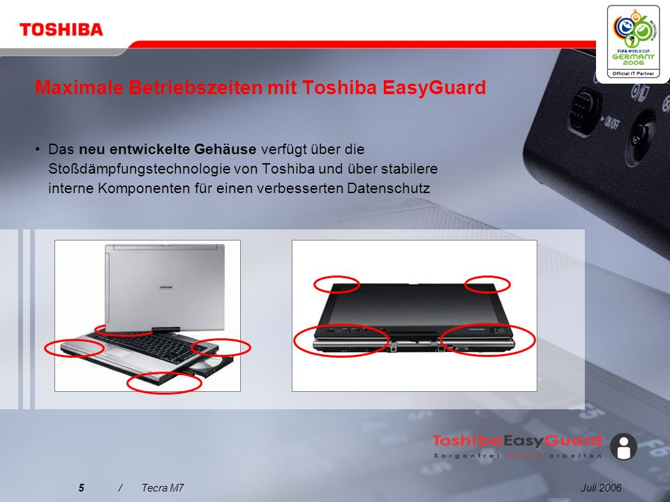 Maximale Betriebszeiten mit Toshiba EasyGuard