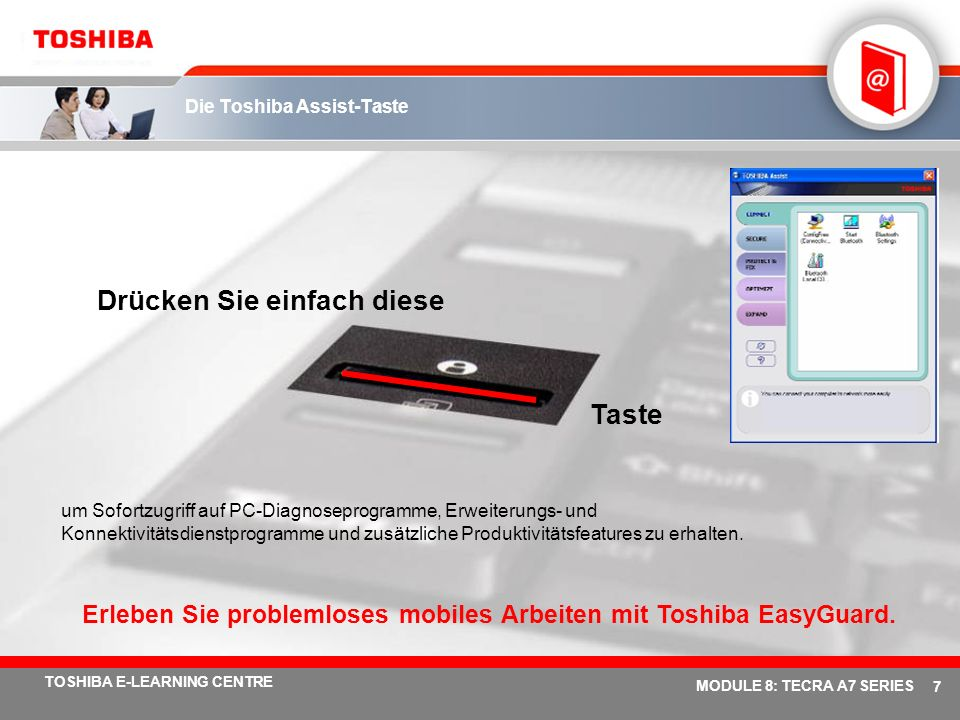 Die Toshiba Assist-Taste