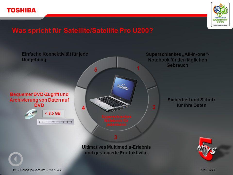 Was spricht für Satellite/Satellite Pro U200