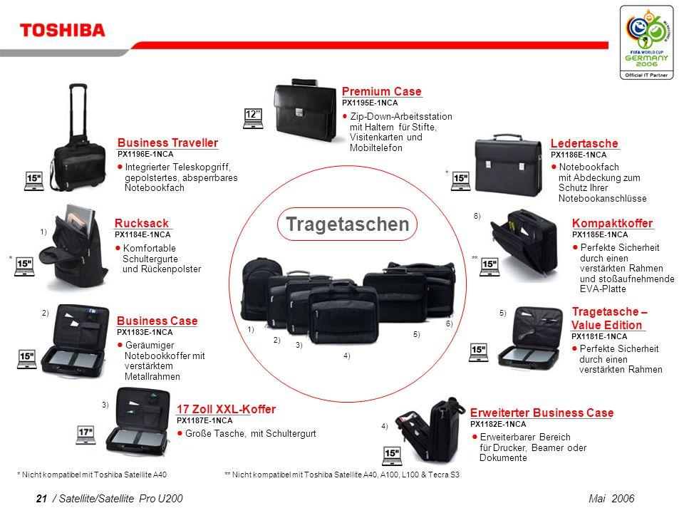 Tragetaschen Business Traveller Premium Case Ledertasche Rucksack