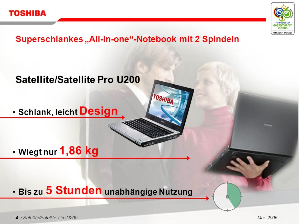 "Superschlankes ""All-in-one -Notebook mit 2 Spindeln"
