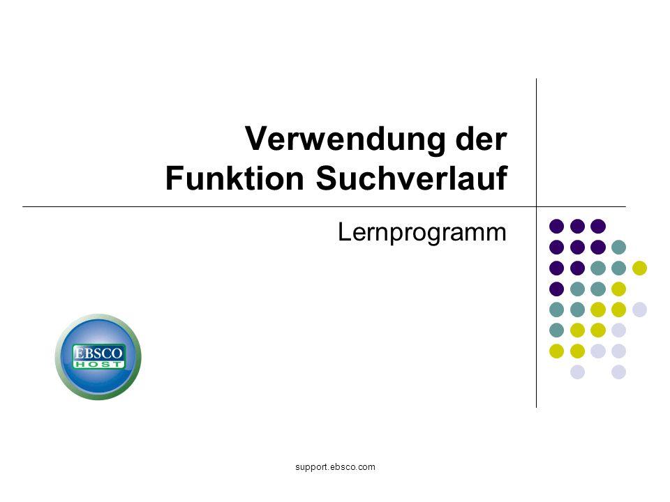 Verwendung der Funktion Suchverlauf
