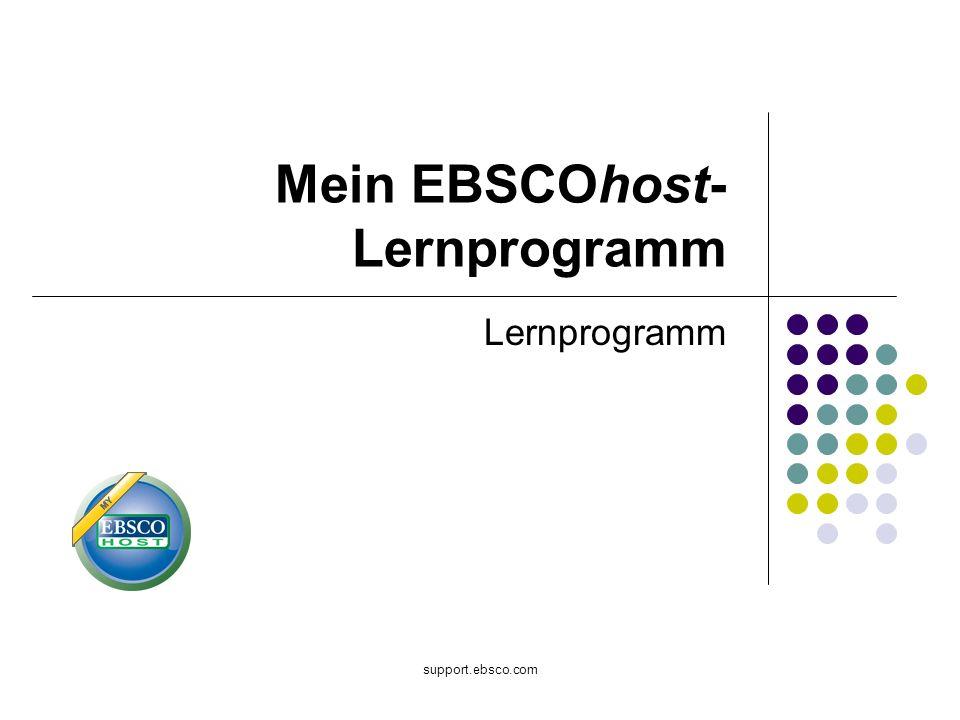 Mein EBSCOhost-Lernprogramm