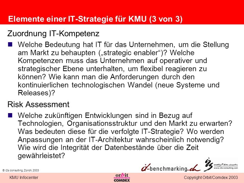 Elemente einer IT-Strategie für KMU (3 von 3)