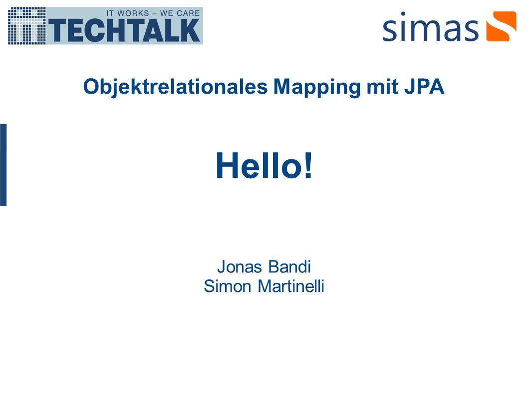 Objektrelationales Mapping mit JPA