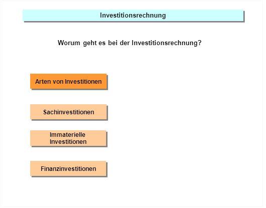 Investitionsrechnung Arten von Investitionen