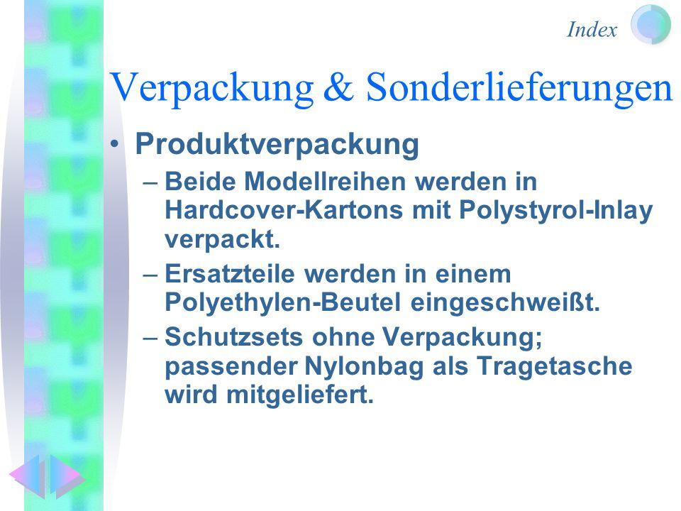 Verpackung & Sonderlieferungen