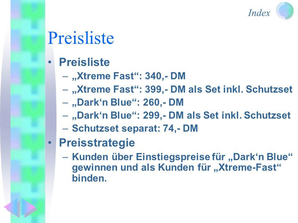 """Preisliste Preisliste Preisstrategie """"Xtreme Fast : 340,- DM"""