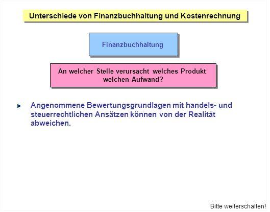 Unterschiede von Finanzbuchhaltung und Kostenrechnung