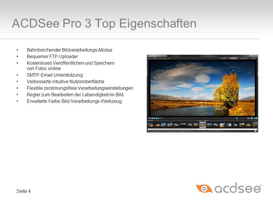 ACDSee Pro 3 Top Eigenschaften