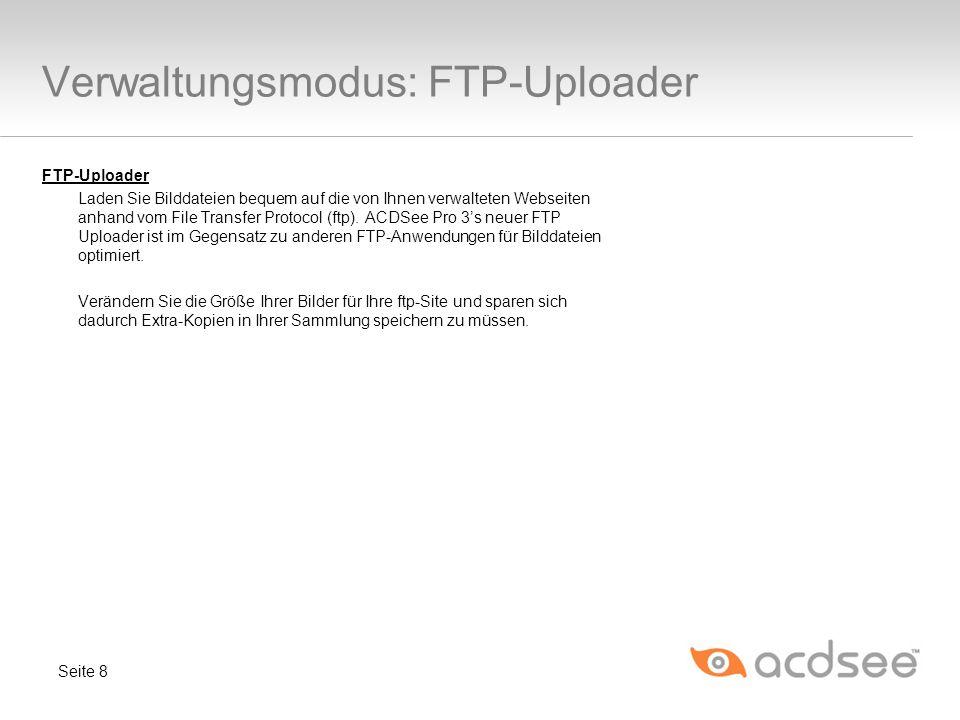 Verwaltungsmodus: FTP-Uploader