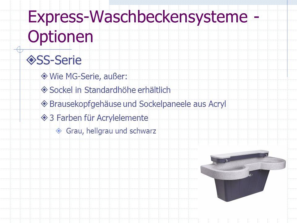 Express-Waschbeckensysteme - Optionen