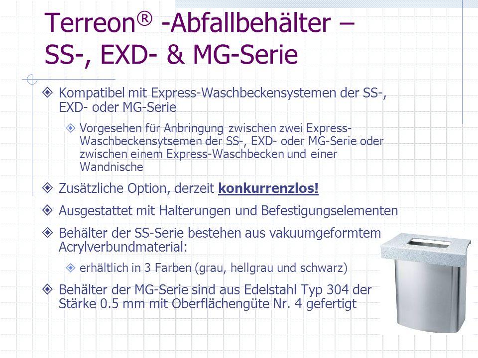 Terreon® -Abfallbehälter – SS-, EXD- & MG-Serie