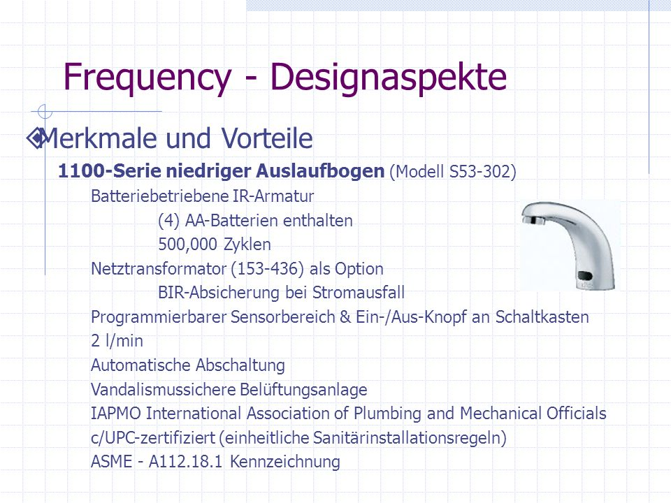 Frequency - Designaspekte