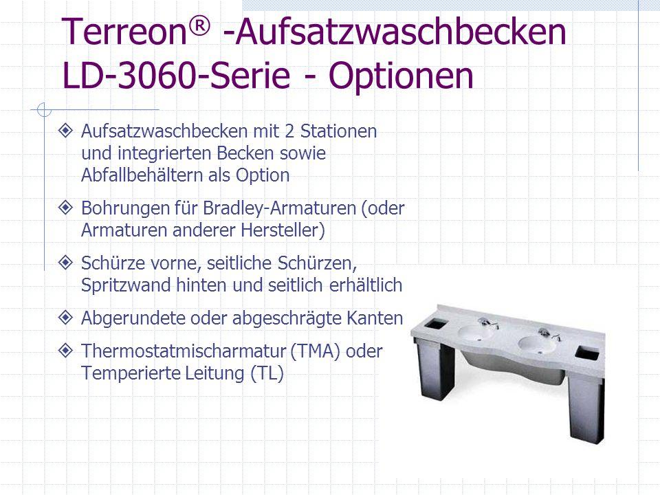 Terreon® -Aufsatzwaschbecken LD-3060-Serie - Optionen