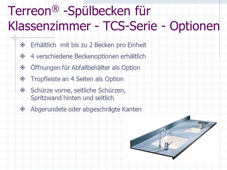 Terreon® -Spülbecken für Klassenzimmer - TCS-Serie - Optionen