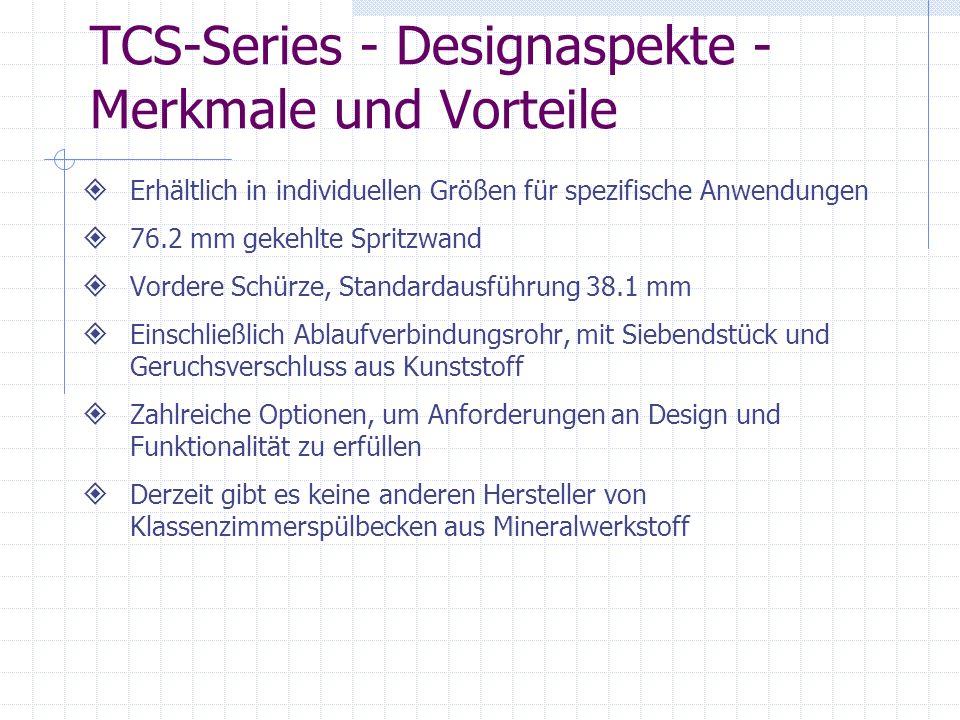 TCS-Series - Designaspekte - Merkmale und Vorteile