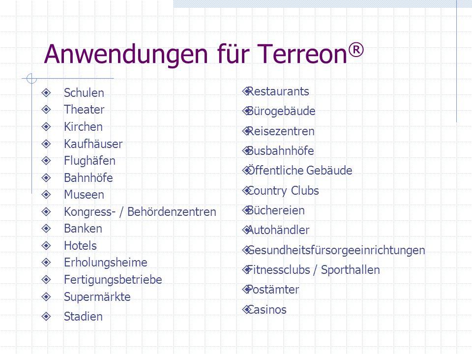 Anwendungen für Terreon®