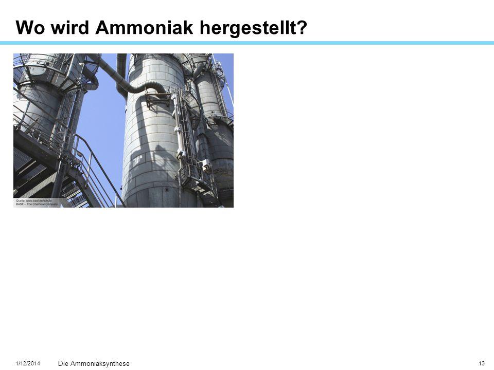 Wo wird Ammoniak hergestellt