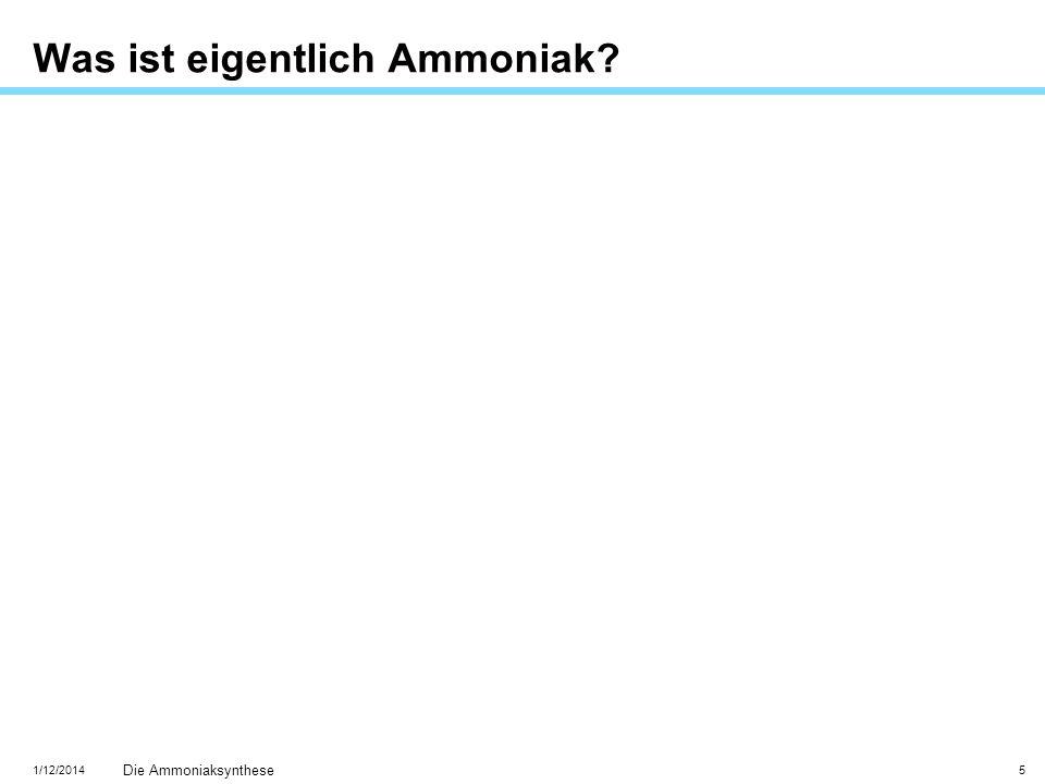 Was ist eigentlich Ammoniak