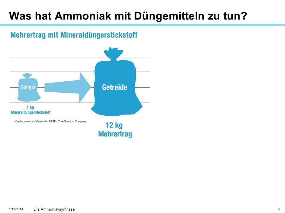 Was hat Ammoniak mit Düngemitteln zu tun
