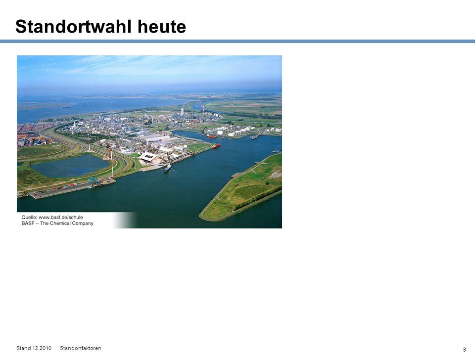 Standortwahl heute Stand 12.2010 Standortfaktoren 8