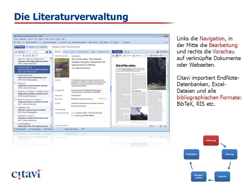 Die Literaturverwaltung