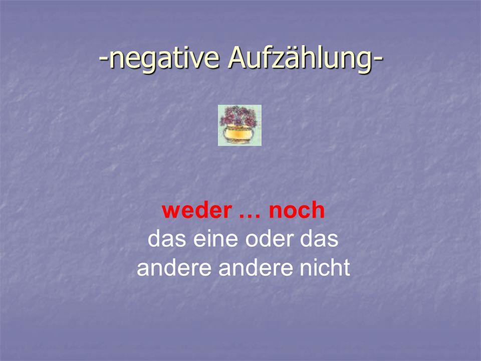 -negative Aufzählung-