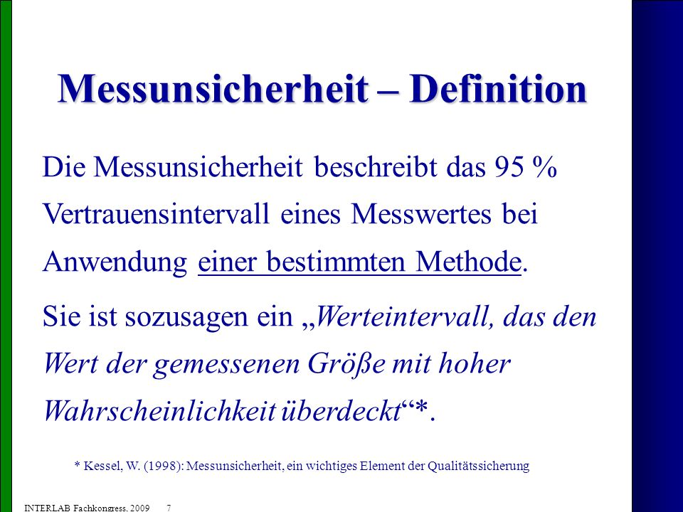 Messunsicherheit – Definition