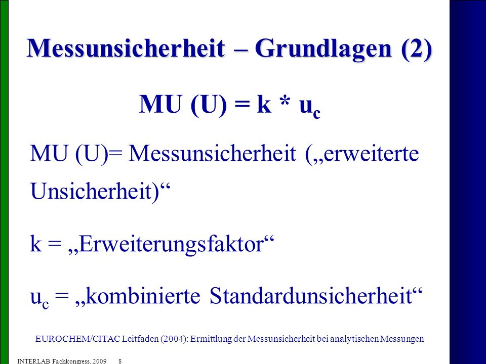 Messunsicherheit – Grundlagen (2)