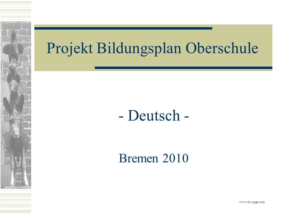 Projekt Bildungsplan Oberschule