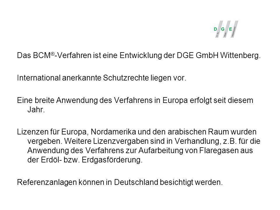 Das BCM®-Verfahren ist eine Entwicklung der DGE GmbH Wittenberg.