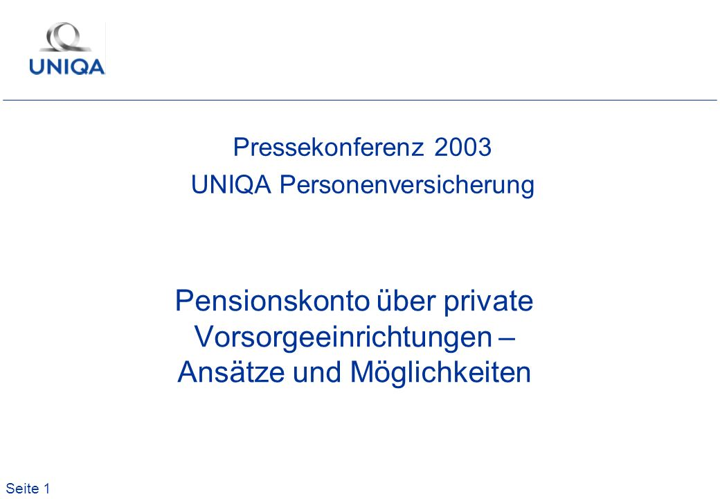 Pressekonferenz 2003 UNIQA Personenversicherung