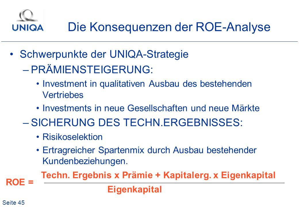 Die Konsequenzen der ROE-Analyse