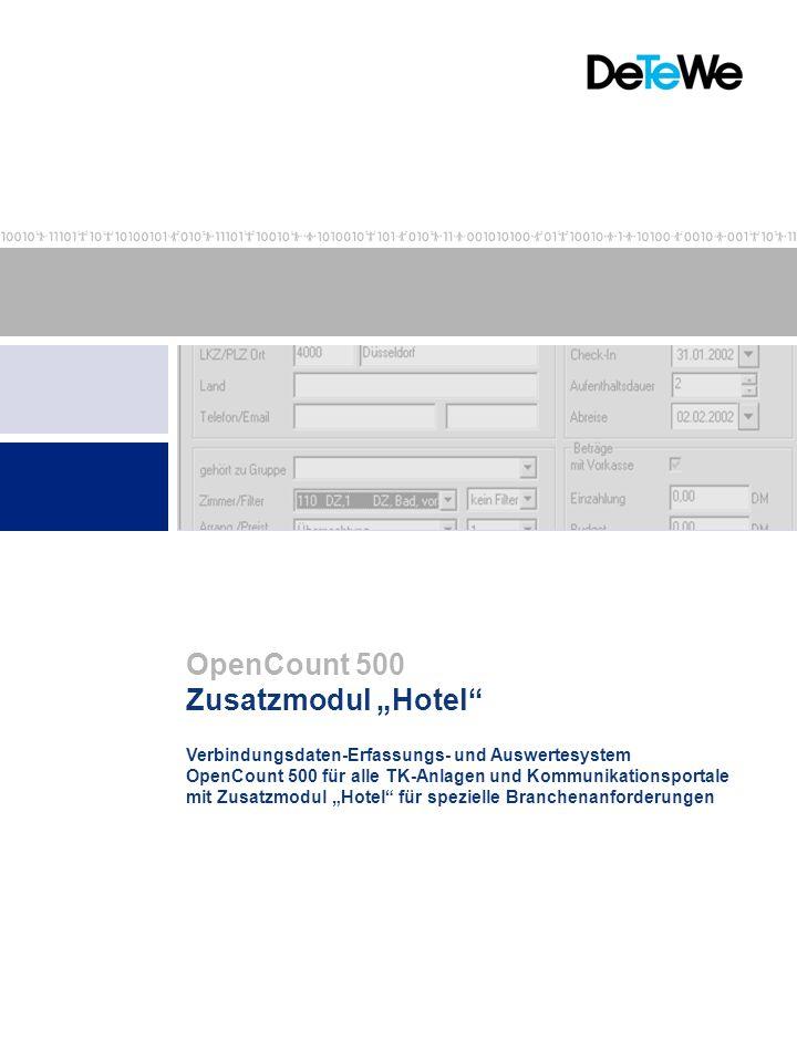"""OpenCount 500 Zusatzmodul """"Hotel"""
