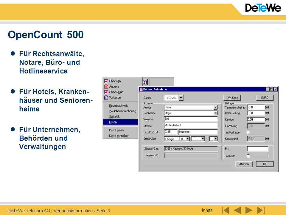 OpenCount 500 Für Rechtsanwälte, Notare, Büro- und Hotlineservice