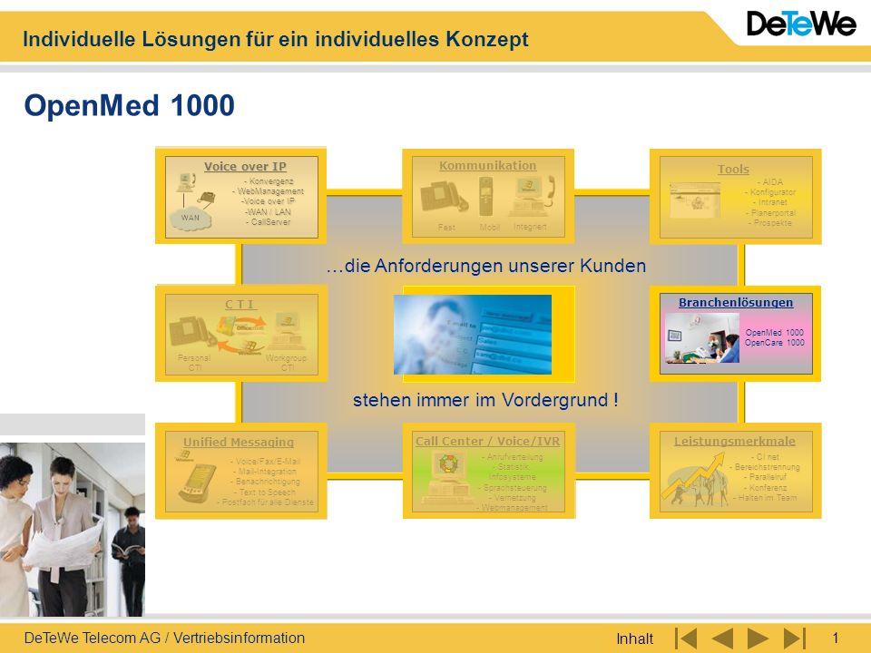 OpenMed 1000 …die Anforderungen unserer Kunden