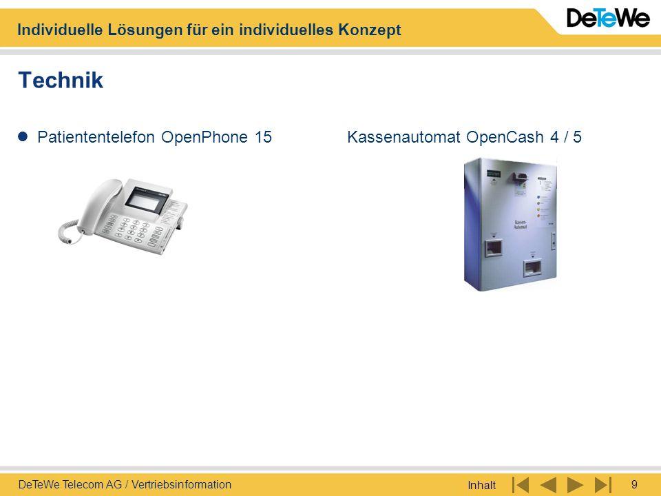 Technik Patiententelefon OpenPhone 15 Kassenautomat OpenCash 4 / 5