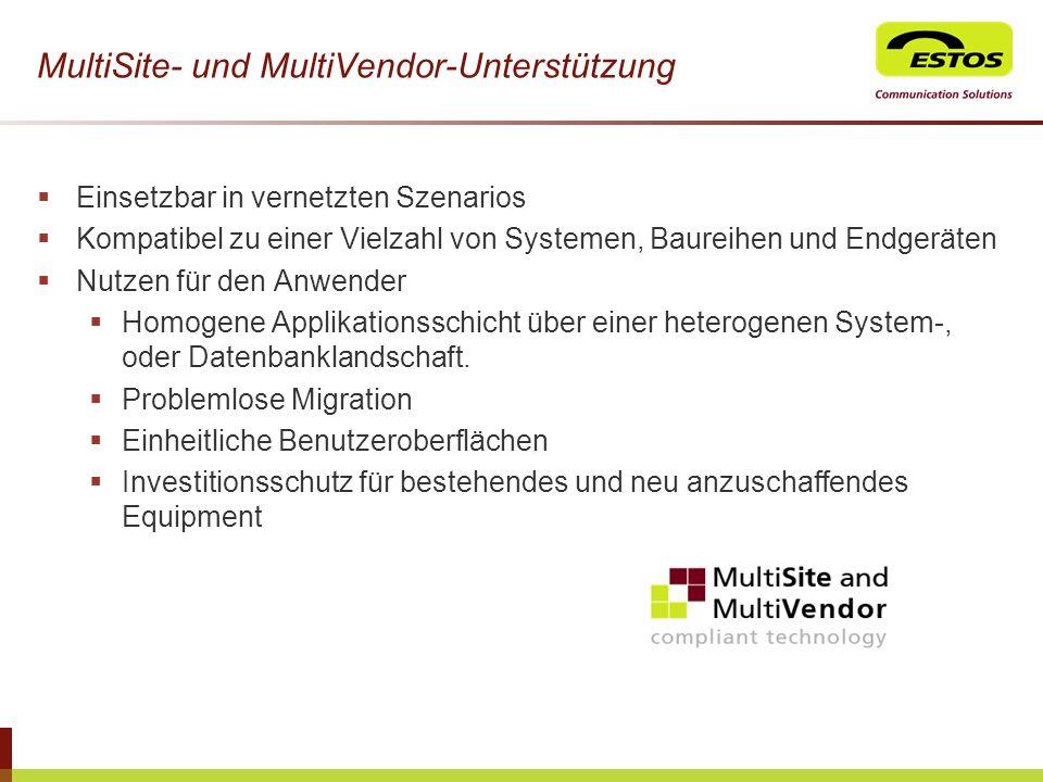 MultiSite- und MultiVendor-Unterstützung