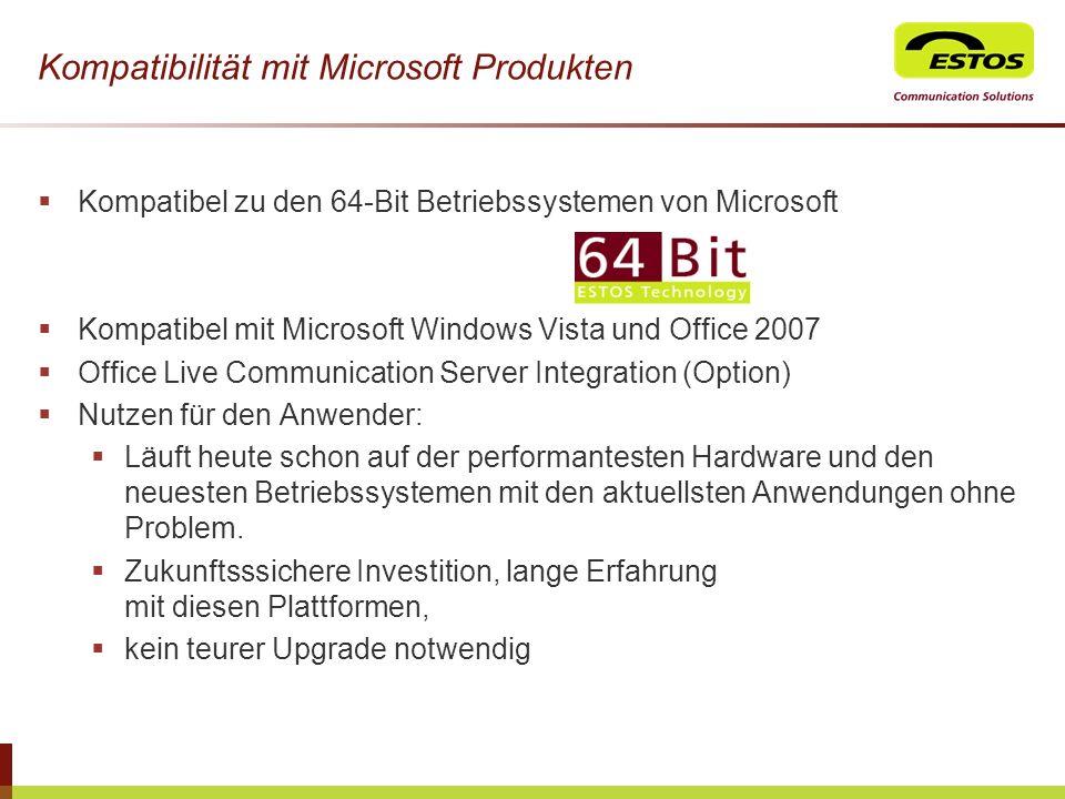 Kompatibilität mit Microsoft Produkten