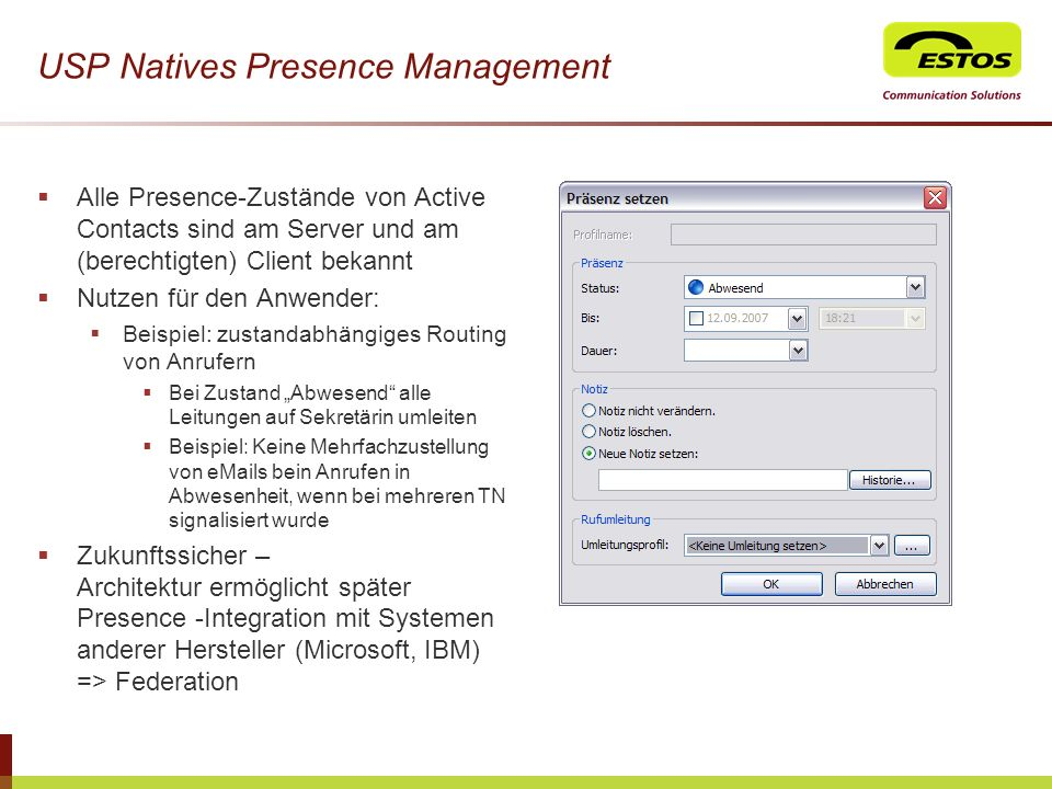 USP Natives Presence Management