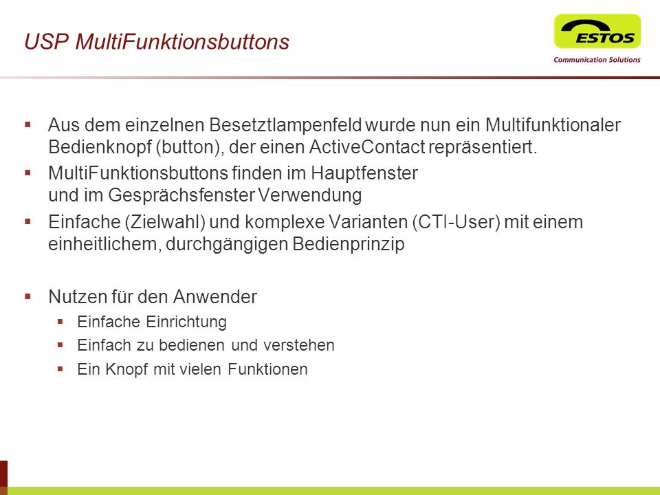 USP MultiFunktionsbuttons