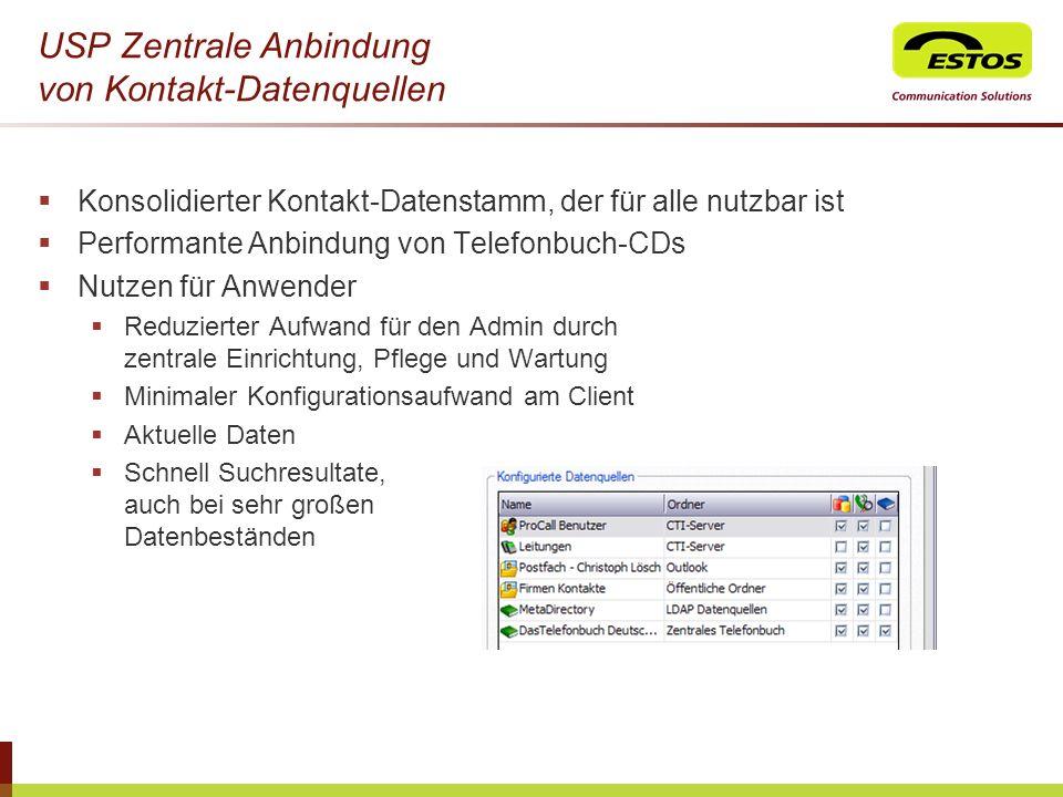 USP Zentrale Anbindung von Kontakt-Datenquellen