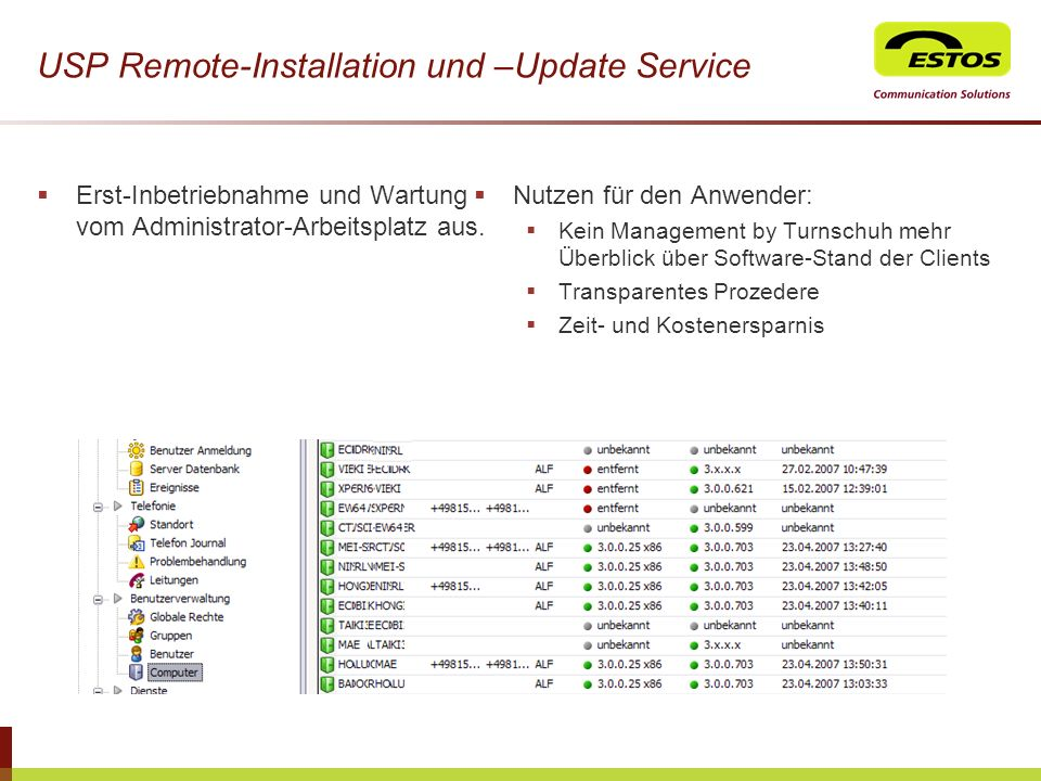 USP Remote-Installation und –Update Service