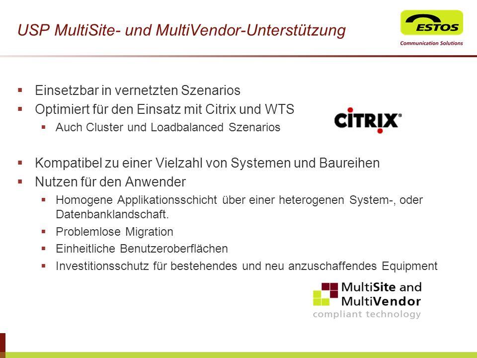 USP MultiSite- und MultiVendor-Unterstützung