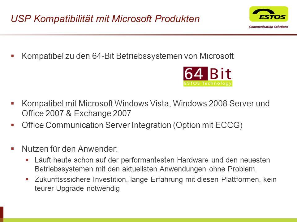 USP Kompatibilität mit Microsoft Produkten