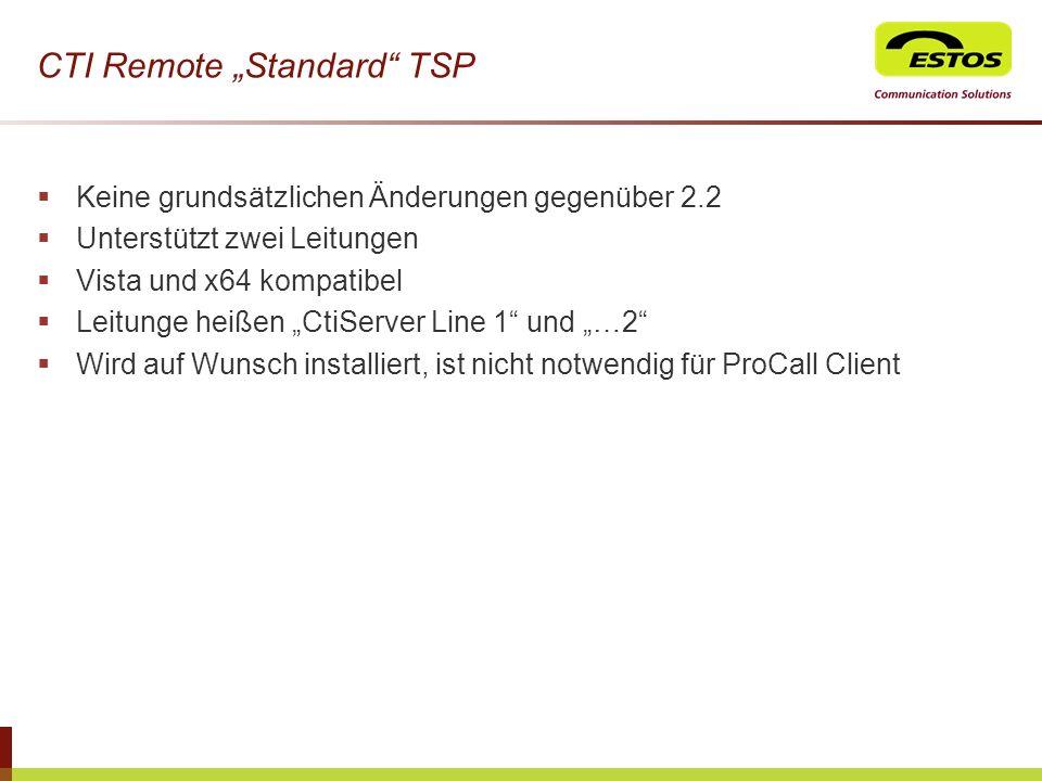 """CTI Remote """"Standard TSP"""